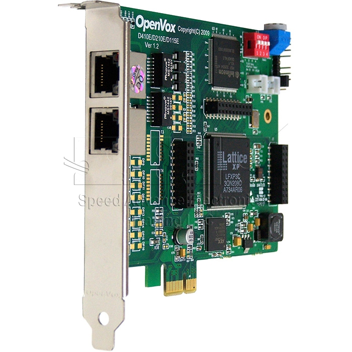 D210 Digital Card - OpenVox D210 2-E1 Digital PCI Express Card
