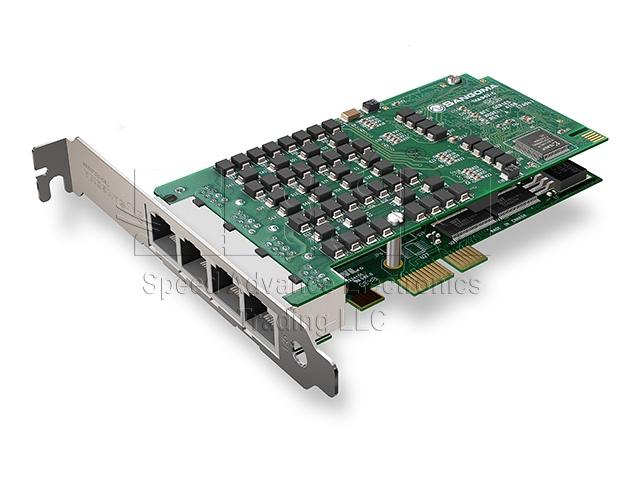 A104 Digital card - Sangoma A104/4E1 PCI-Express card